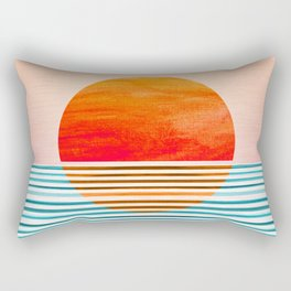 Minimalist Sunset III Rectangular Pillow