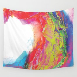 Trippy Rainbow Wave Painting Wall Tapestry