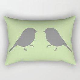 facing chickadees (color) Rectangular Pillow