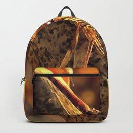 Elegant Red Darter Dragonfly Backpack