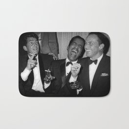 The Rat Pack - Frank Sinatra, Dean Martin, Sammy Davis Jr. Laughing Bath Mat
