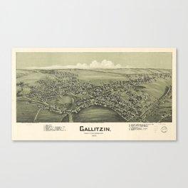 Aerial View of Gallitzin, Pennsylvania (1901) Canvas Print