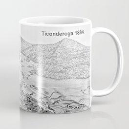 Ticonderoga Map 1884 Coffee Mug