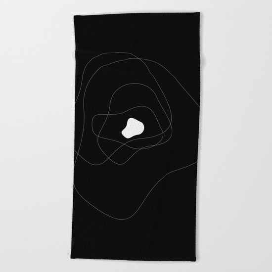 Abstract Infinite v. Black Beach Towel