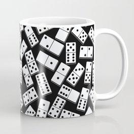Black and white domino seamless pattern Coffee Mug