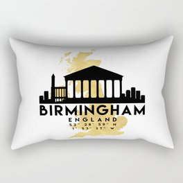 BIRMINGHAM ENGLAND SILHOUETTE SKYLINE MAP ART Rectangular Pillow
