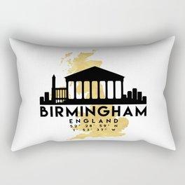 BIRMINGHAM ENGLAND SILHOUETTE SKYLINE MAP ART Rectangular Pillow