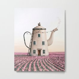 Teapot House Metal Print