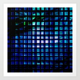 metallic grid 2 Art Print