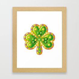 Jewelry shamrock Framed Art Print