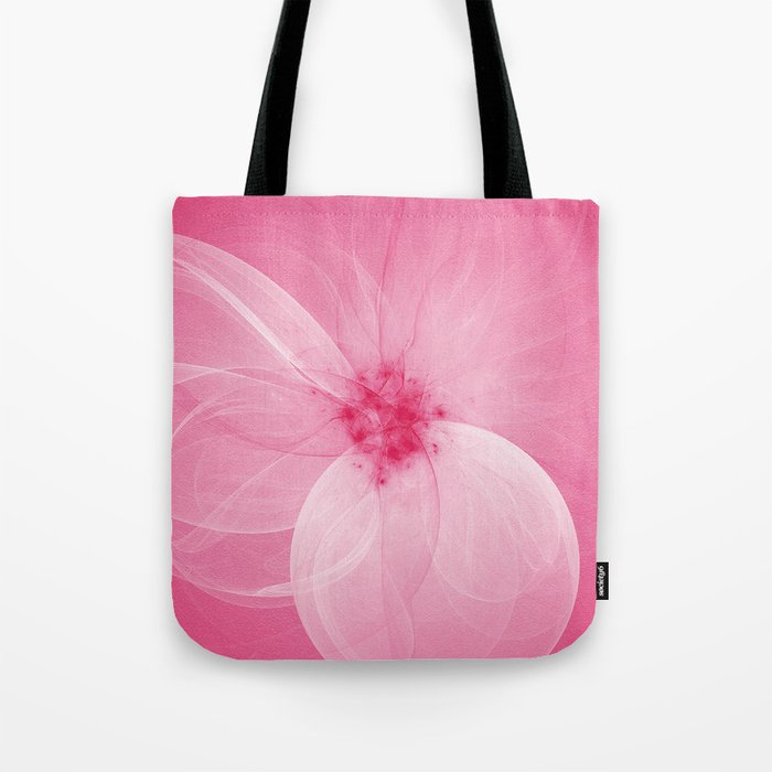 Pink Fairy Blossom Fractal Tote Bag