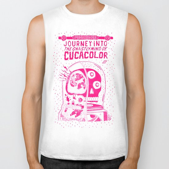 journey in to the ghastly mind of cucacolor Biker Tank