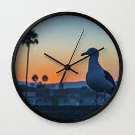 Sunrise Seagull Wall Clock