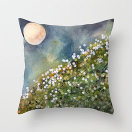 Moon Drops on Sacred Ground Throw Pillow