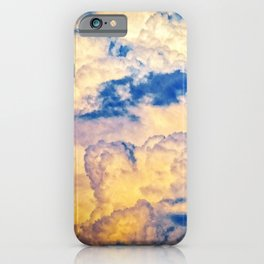 Layers Of Heavy Cumulus Clouds At Sunset iPhone Case