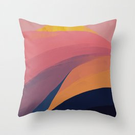 Colorful Mountain Scape Throw Pillow