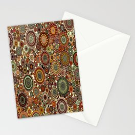 Decorative Circle design in Browns and greens Stationery Cards