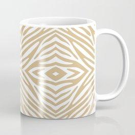 Tan Neutral Zebra Coffee Mug