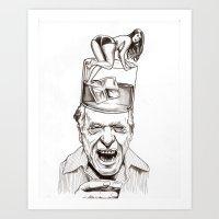 chuck Art Prints featuring Chuck by Erik DeAngelis