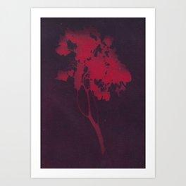 premium red Art Print