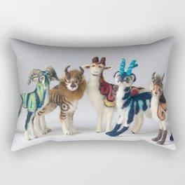 Fantastic Felted Beasts Rectangular Pillow