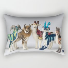 Fantastic Felted Beasts Rectangular Pillow