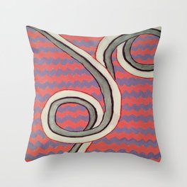 Zig Zag Swirl Throw Pillow