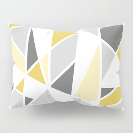 Geometric Pattern in yellow and gray Pillow Sham