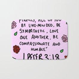 1 Peter 3:18 Bath Mat