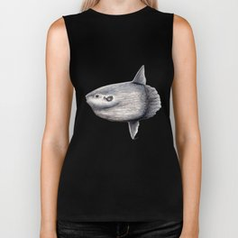 Ocean Sunfish (Mola mola) Biker Tank