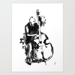 Jazz Contrabass Art Print