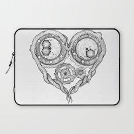 Chemistry of love: dopamine and serotonin formula (black and white version) Laptop Sleeve