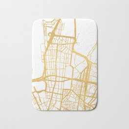 SYDNEY AUSTRALIA CITY STREET MAP ART Bath Mat