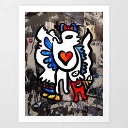 Bologna Street Graffiti Art With Love  Art Print