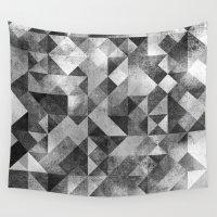 matrix Wall Tapestries featuring moon matrix by Kingu Omega