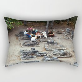 Coba (Maya Ruins) Rectangular Pillow