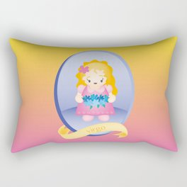 Virgo Child Zodiac Sign Illustration Rectangular Pillow