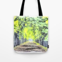Forest Path Watercolour Art Tote Bag