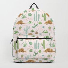 Armadillos in the Desert - Watercolor Backpack