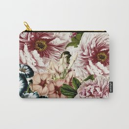 Vintage Peony and Ipomea Pattern - Smelling Dreams Carry-All Pouch