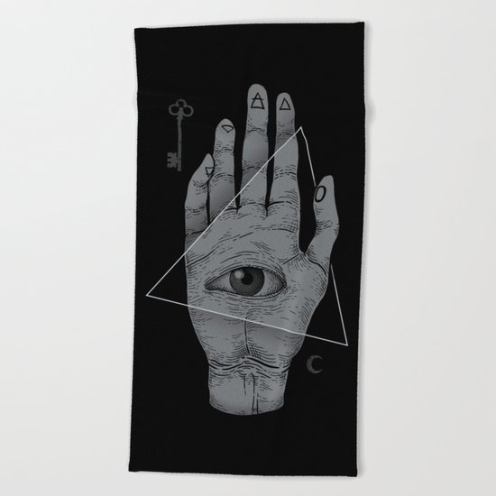 Witch Hand Beach Towel