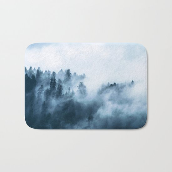 The Wilderness, Foggy Forest Bath Mat