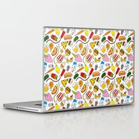 junk food Laptop & iPad Skins featuring Junk food doodle by Waffleme & Co.