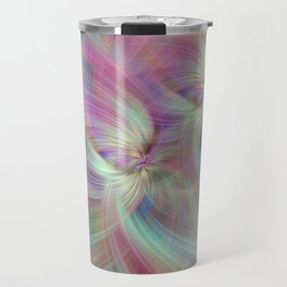 Rainbow Colored Abstract. Concept Divine Virtues Travel Mug