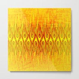 Flame On Abstract Tribal Fire Metal Print