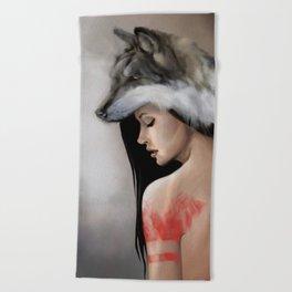 Sheep in wolf fur Beach Towel