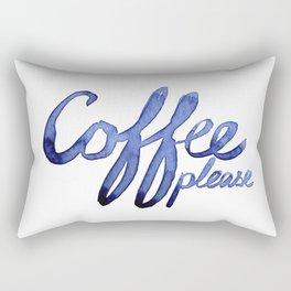 Coffee Please Drinks Caffeine Typography Coffee Lovers Rectangular Pillow
