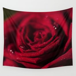 Fire - Red - Rose - Roses Flowers Wall Tapestry
