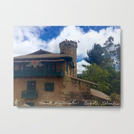 Mount Monserrate at Christmastime Maybe, Bogota, Colombia Metal Print