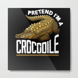 Crocodile Africa Metal Print
